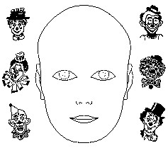 Triton Troupers Circus  Blank Face Template Printable