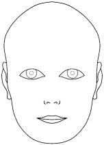 CLICK HERE for printable PDF of blank face template for makeup design ...